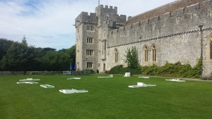 St Donat's castle with crazy golf
